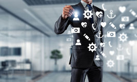 Medientechniken für Geschäft Gemischte Medien lizenzfreies stockbild