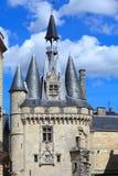 Medieva Kontrollturm und Wand - Porte Cailhau, Bordeaux Stockbilder