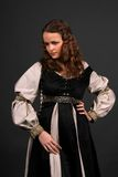 Medieval. Female model posing in a medieval outfit Royalty Free Stock Images