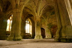 Medieval abbey interior B Royalty Free Stock Photos