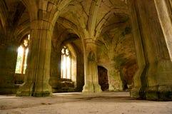 Medieval abbey interior B. Photograph of light shining into an abbey interior Royalty Free Stock Photos