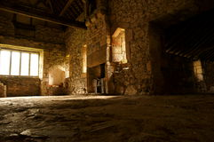 Medieval abbey interior C Royalty Free Stock Image