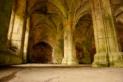 Medieval abbey interior D Royalty Free Stock Photo