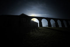 Medieval abbey by night Stock Photography