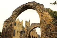 Medieval abbey ruins Canterbury Cathedral UK Royalty Free Stock Photography