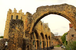 Medieval abbey ruins Canterbury Cathedral UK Royalty Free Stock Image
