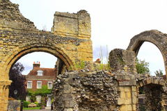 Medieval abbey ruins Canterbury Cathedral UK Royalty Free Stock Images
