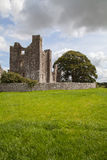Medieval abbey ruins in rural area. Royalty Free Stock Photo