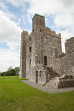 Medieval abbey ruins in rural area. Royalty Free Stock Images