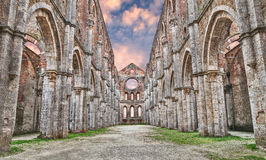 Medieval abbey of San Galgano in Siena, Tuscany, Italy Stock Images