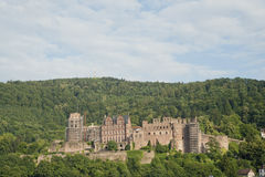 Medieval age castle of Heidelberg in germany. Royalty Free Stock Photos