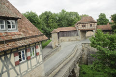Medieval age of  city scenic in Rothenburg. Stock Images