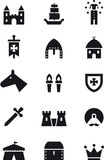 Medieval age icon set Royalty Free Stock Images