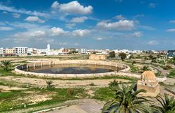 Medieval Aghlabid Basins in Kairouan, Tunisia Stock Photos