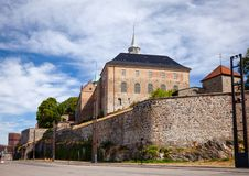 Akershus Castle and Fortress central Oslo Norway Scandanavia. Medieval Akershus Castle and Fortress, former royal residence in central Oslo, Norway, Scandanavia stock photography