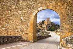 medieval Alarcon castle in Spain Stock Photo