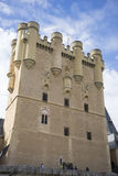 Medieval, alcazar castle city of Segovia, Spain. Old town of Rom Stock Photos