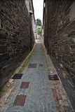 Medieval alley in Brittany Stock Photo