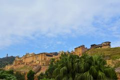 Medieval Amber Fort, Jaipur, Rajasthan, India Stock Photography