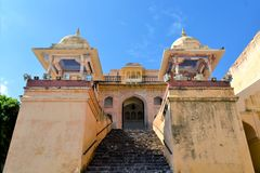 Medieval Amber Fort, Jaipur, Rajasthan, India Royalty Free Stock Photo