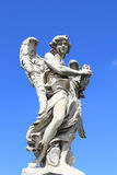 Medieval angel statue of Rome Royalty Free Stock Image