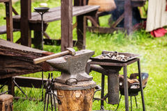 Medieval anvil Royalty Free Stock Images
