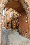 Medieval arcade in Roussillon, Provence, France Stock Images