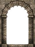 Medieval arch isolated. Medieval castle arche isolated on white background Stock Images