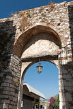 Medieval arch in Taormina, Sicily, Italy Royalty Free Stock Photography