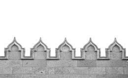 Medieval arch wall Royalty Free Stock Images