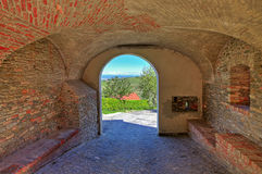Medieval arched passage in small town. Stock Images