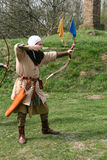 A medieval archer. Acting during an italian fair Stock Images