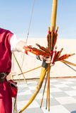 Medieval archer. Ancient crafts historic medieval festival Royalty Free Stock Photography