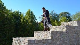 Medieval archer patrol Stock Photos