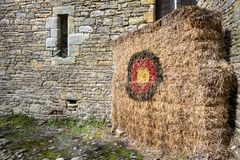 Medieval archery target Royalty Free Stock Images