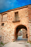 Medieval arches, Collbato, Spain Stock Photography