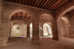 Medieval arches in mexico. Medieval stone arches in a mexican hacienda Stock Photography