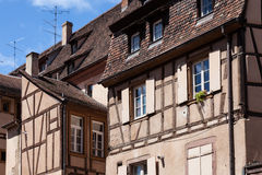 Medieval architecture of Colmar Stock Photos