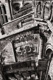 Medieval Architecture Detail on Gothic Cathedral Stock Photo