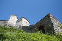 Medieval architecture. Medieval fortress  Rasnov in Transylvania, Romania Stock Image