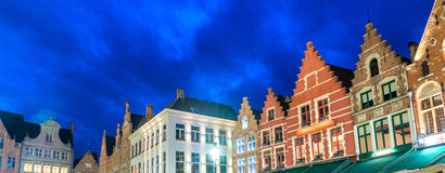 Medieval architecture in Grote Markt Square, Bruges Royalty Free Stock Image