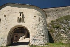 Medieval architecture. Medieval fortress  Rasnov in Transylvania, Romania Stock Images