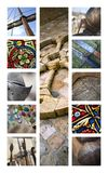 Middle age collage Royalty Free Stock Images