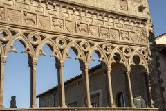 Medieval architecture of palace of Popes royalty free stock photo