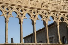 Medieval architecture of palace of Popes royalty free stock photography