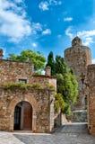 Medieval architecture, Peratallada, Spain Stock Images