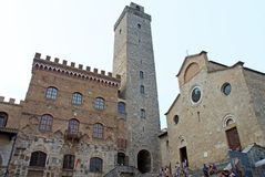 Medieval architecture of San Gimignano, Italy Stock Photography