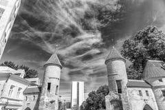 Medieval architecture of Tallinn, Estonia Stock Images