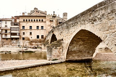 Medieval architecture of Valderrobres town. Spain Royalty Free Stock Images