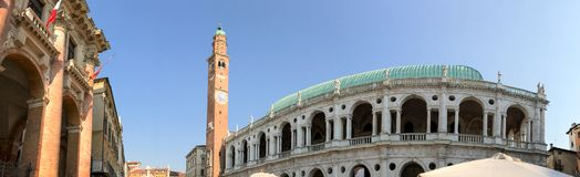 Medieval architecture of Vicenza, Italy.  stock images